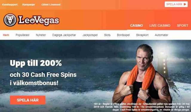 Leovegas - Upp till 200% och 30 Cash Free Spins